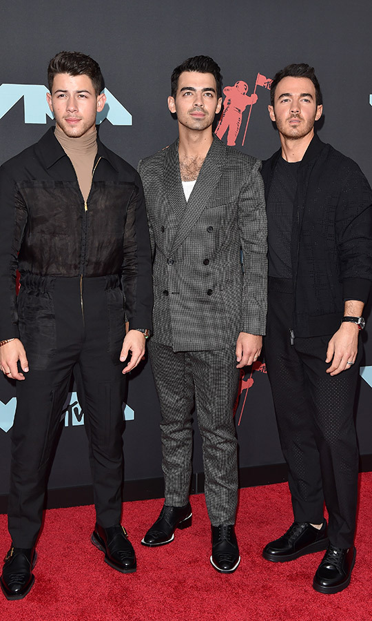 "<strong><a href=""/tags/0/jonas-brothers"">The Jonas Brothers</strong></a> looked every bit their stylish selves with suits, casual wear and turtlenecks on the red carpet.