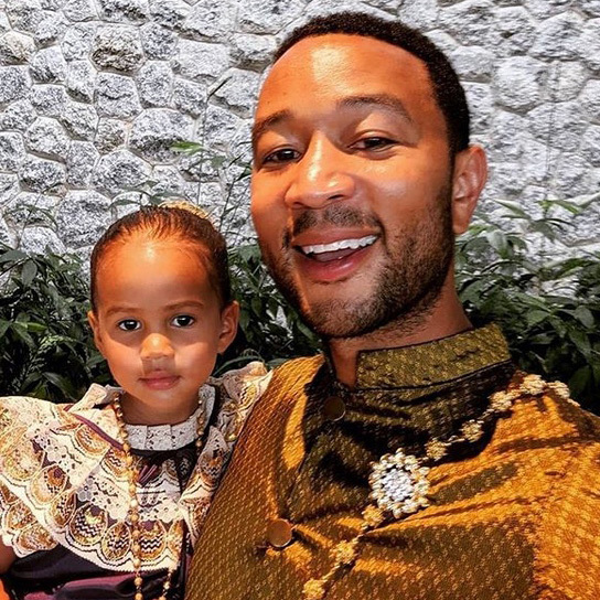 "<strong><a href=""/tags/0/john-legend"">John</a></strong> looks so happy posing for this adorable photo with three-year-old <strong>Luna</strong>!
