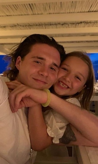 "Earlier in the summer, <strong><a href=""/tags/0/victoria-beckham"">Victoria Beckham</a></strong> and <strong><a href=""/tags/0/david-beckham"">David Beckham</a></strong> went on vacation in Italy with their kids. Victoria posted this adorable photo of <strong><a href=""/tags/0/harper-beckham"">Harper</strong></a> hugging her big brother <strong><a href=""/tags/0/brooklyn-beckham"">Brooklyn</strong></a>!