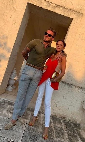 "<strong><A href=""/tags/0/victoria-beckham"">Victoria</a></strong> posted this photo of her and <strong><a href=""/tags/0/david-beckham"">David</a></strong> looking incredibly chic during the same trip.