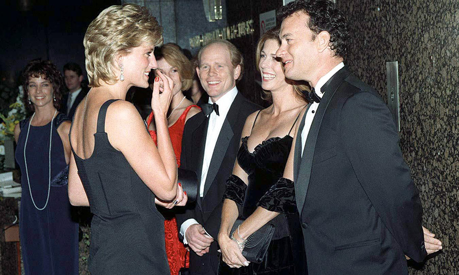 """Tom and I had the privilege to meet <strong><a href=""/tags/0/princess-diana"">Princess Diana</a></strong> at the <i>Apollo 13</i> screening in London. She could not have been more gracious, charming, funny and kind. I was expecting our second son at the time and she kept asking me if I was comfortable, and if I needed anything. 