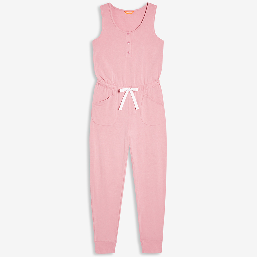 <strong><a href=https://www.joefresh.com/ca/Categories/Women/Women-s-Sleepwear/French-Terry-Sleep-Jumpsuit/p/F9WR002195_6870>Jumpsuit in Dusty Rose</strong></a>, $29 