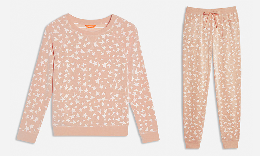 <strong><a href=https://www.joefresh.com/ca/Categories/Women/Women-s-Sleepwear/Soft-Knit-Sleep-Joggers/p/F9WR000254_9215>Soft Knit Sleep Joggers in Blush</a></strong>, $19