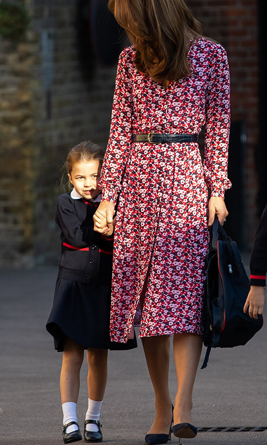 "<strong><a href=""/tags/0/kate-middleton"">Duchess Kate</a></strong> appeared to recognize her daughter's nerves and encourage her to push through them and meet the new experience with courage. So sweet! She's the best mom! 