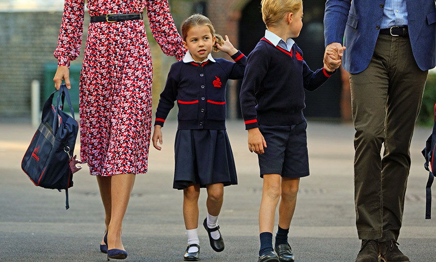 "<strong><a href=""/tags/0/princess-charlotte"">Charlotte</a></strong> then emerged from behind her mom to meet her greeter. 