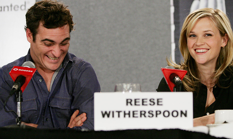 "Somebody must have said something funny! <strong><a href=""/tags/0/joaquin-phoenix"">Joaquin Phoenix</a></strong> cracked up while promoting <strong>Johnny Cash</strong> biopic <i>Walk the Line</i> with his co-star <strong><a href=""/tags/0/reese-witherspoon"">Reese Witherspoon</a></strong> in 2005.