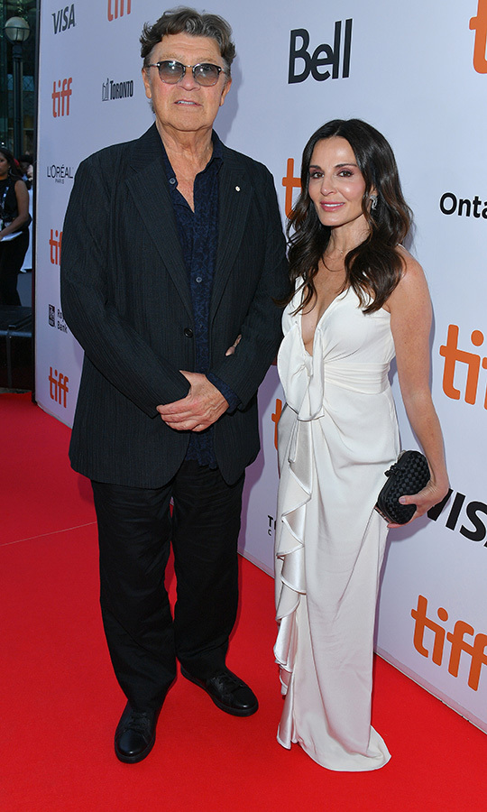 Canadian music legend <strong>Robbie Robertson</strong>, one of the members of <strong>The Band</strong>, was on hand for the documentary's premiere with his wife, <strong>Janet Zuccarini</strong>. She looked stunning in a gorgeous white dress. 