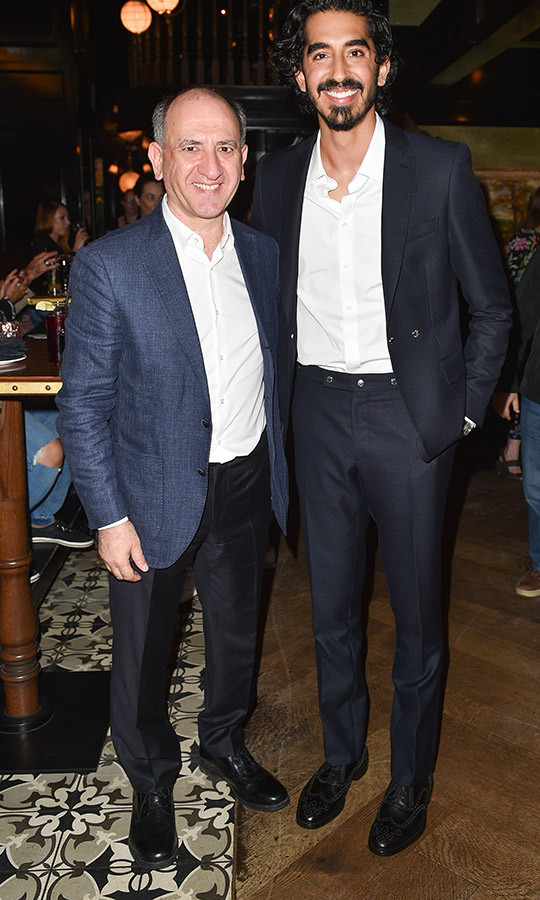 "<strong><a href=""/tags/0/dev-patel"">Dev Patel</a></strong> and the film's director <strong>Armando Iannucci </strong> looked happy at the party, which took place after the film's premiere on Sept. 5. 