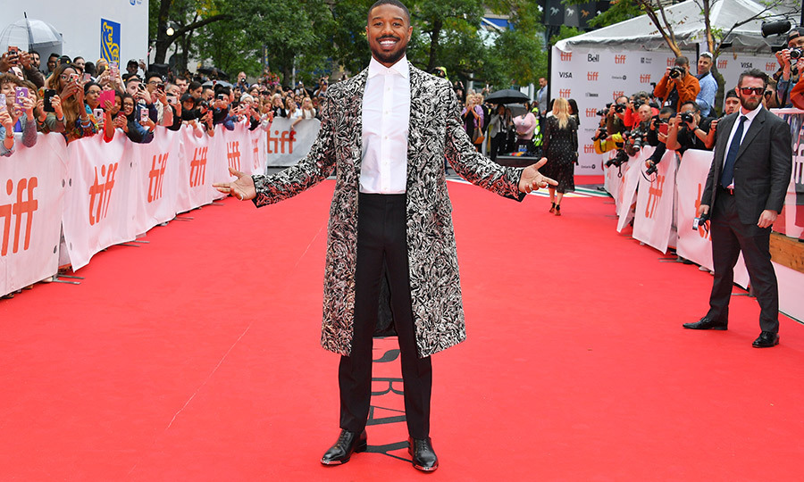 "The king is here! <strong><a href=""/tags/0/michael-b-jordan"">Michael B. Jordan</strong></a> looked incredible on the red carpet for <i>Just Mercy</i> on Sept. 6. Bow down!