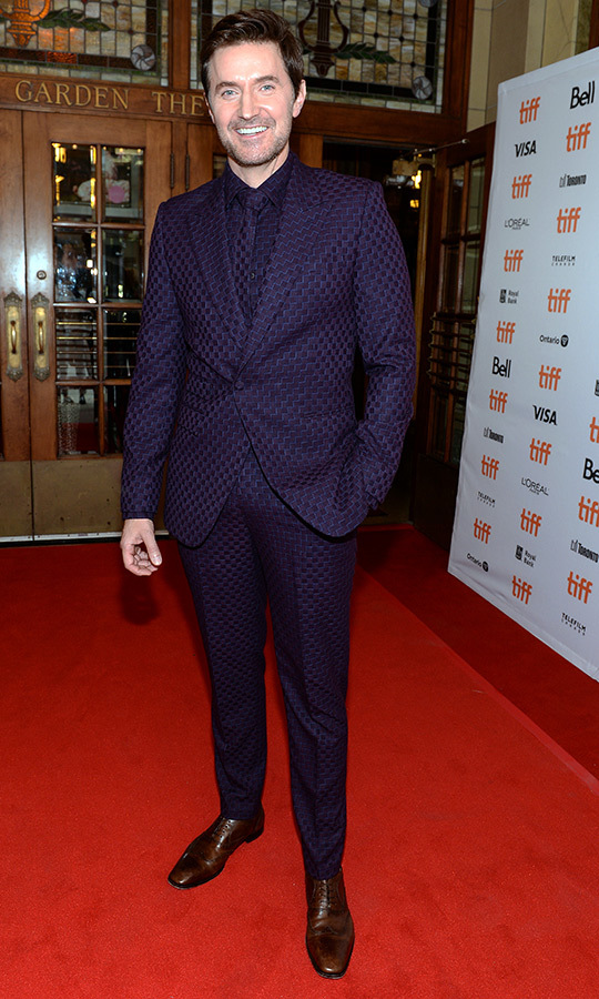 "We are loving this purple suit <strong><a href=""/tags/0/richard-armitage"">Richard Armitage</a></strong> wore to the <i>My Zoe</i> red carpet on Sept. 7!