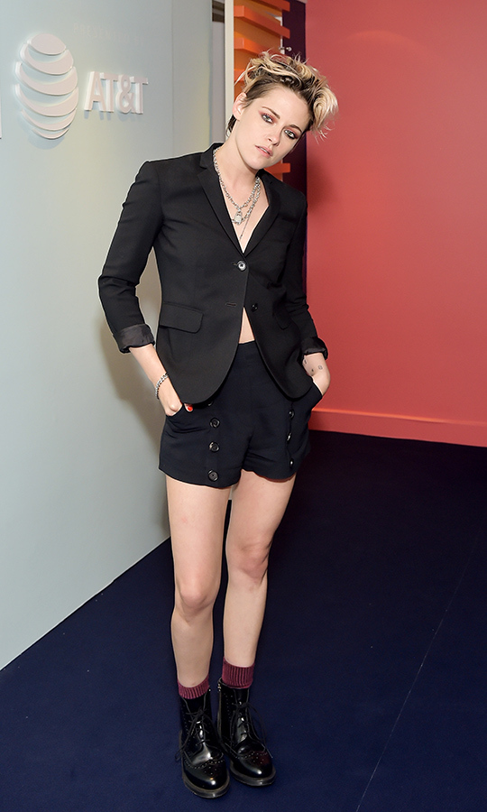 "<strong><a href=""/tags/0/kristen-stewart"">Kristen Stewart</a></strong> always looks so cool! She showed up at the AT&T space looking like a chic punk on Sept. 7.