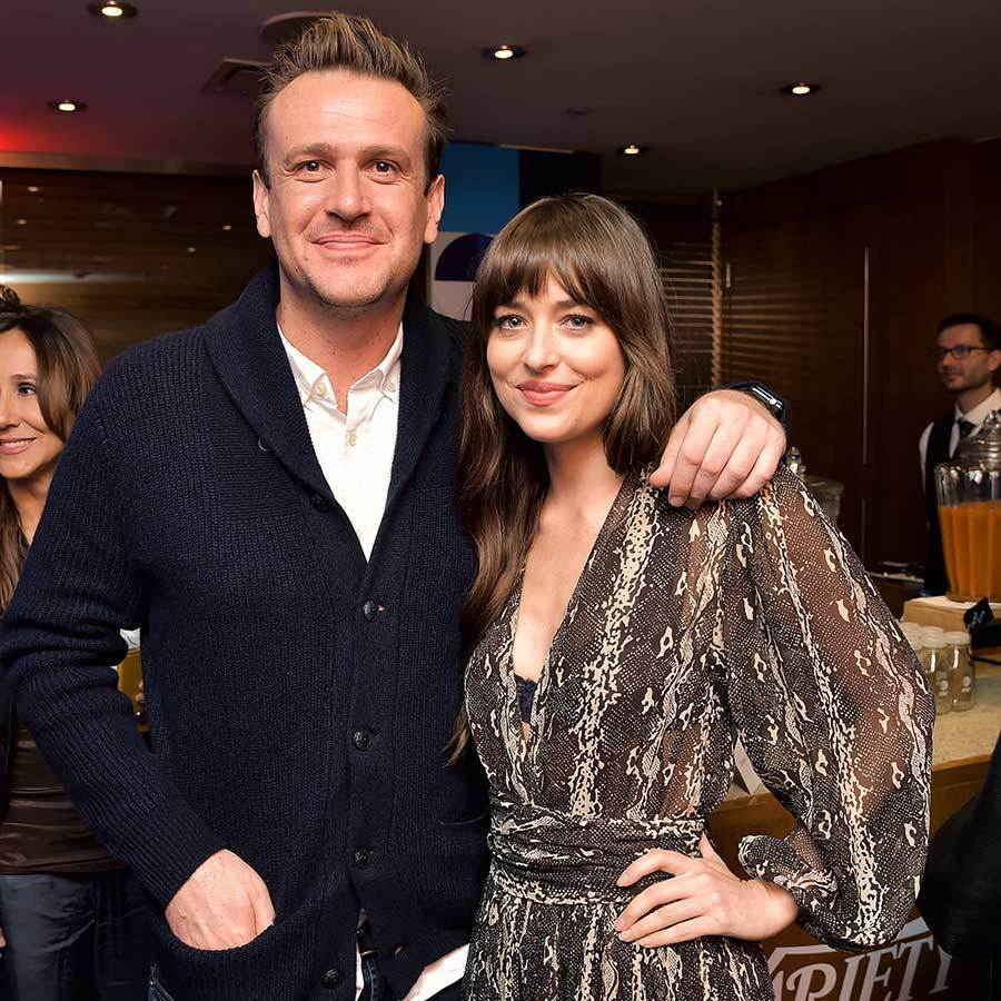 "<Strong><a href=""/tags/0/jason-segel"">Jason Segel</a></strong> and <Strong><a href=""/tags/0/dakota-johnson"">Dakota Johnson</a></strong> enjoyed a sweet moment together on Sept. 7.