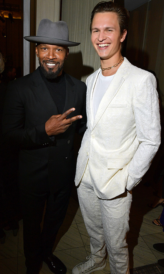 "Whatever <Strong><a href=""/tags/0/jamie-foxx"">Jamie Foxx</strong></a> had just said, <Strong><a href=""/tags/0/ansel-elgort"">Ansel Elgort</a></strong> thought it was funny!