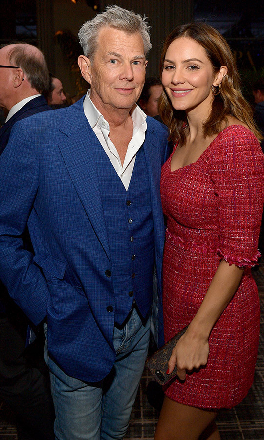 "Newlyweds <strong><a href=""/tags/0/david-foster"">David Foster</a></strong> and <strong><a href=""/tags/0/katharine-mcphee"">Katharine McPhee</a></strong> were spotted looking happy and in love!