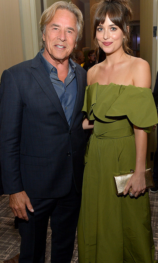 "Father daughter moment! <strong><a href=""/tags/0/don-johnson"">Don Johnson</a></strong> and <strong><a href=""/tags/0/dakota-johnson"">Dakota Johnson</a></strong> met up at the Hollywood Foreign Press party!