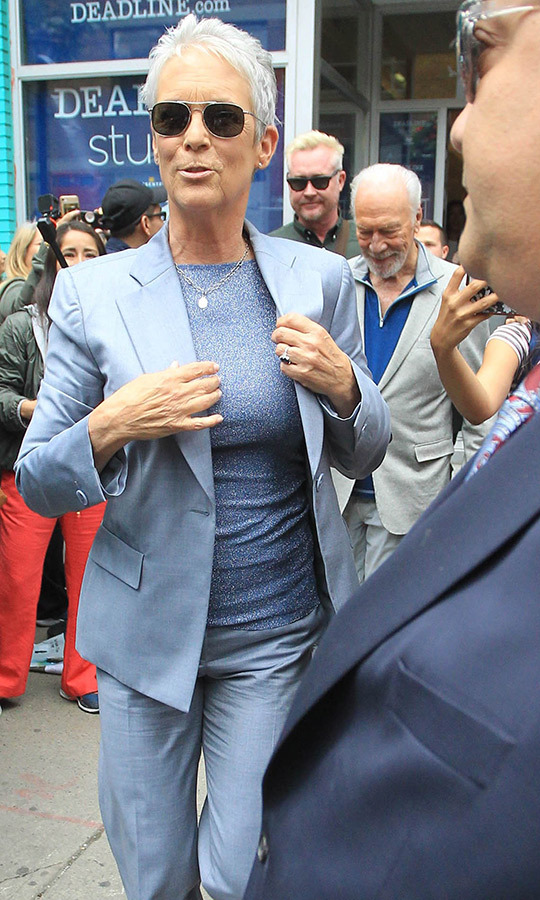 "Earlier in the day, <strong><a href=""/tags/0/jamie-lee-curtis"">Jamie Lee Curtis</a></strong> and <Strong><a href=""/tags/0/christopher-plummer"">Christopher Plummer</a></strong> were seen leaving the Deadline Studio at <strong><a href=""/tags/0/tiff"">TIFF</a></strong>.
