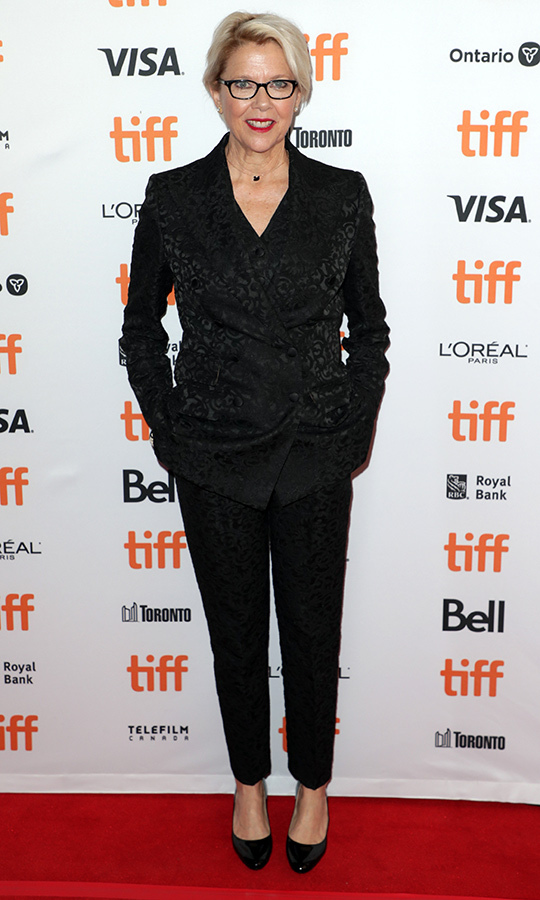 "<strong><A href=""/tags/0/annette-bening"">Annette Bening</a></strong> chose a simple black look with a textured blazer for <i>The Report</i>'s red carpet on Sept. 8.