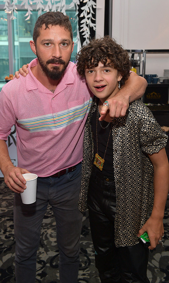 "<strong><a href=""/tags/0/shia-labeouf"">Shia LaBeouf</a></strong> and <strong><a href=""/tags/0/noah-jupe"">Noah Jupe</a></strong> hung out at The Hollywood Reporter's studio on Sept. 9.