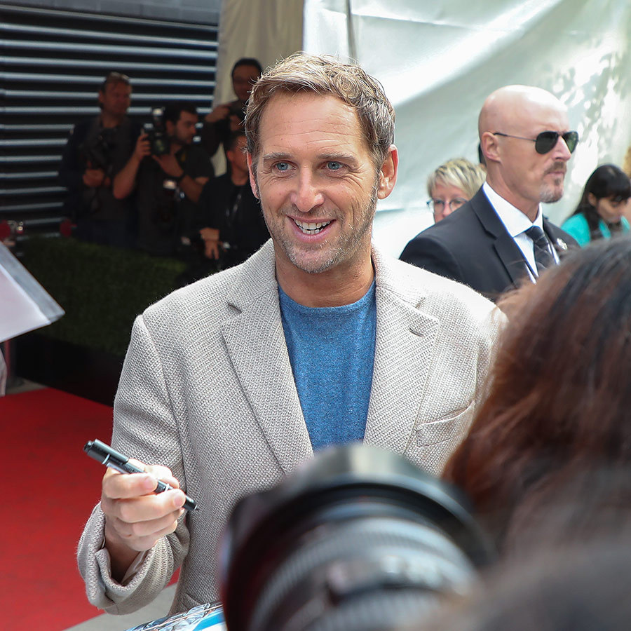 "<strong><a href=""/tags/0/josh-lucas"">Josh Lucas</a></strong>, who is also in the film, was happy to sign fans waiting for him on Sept. 10.