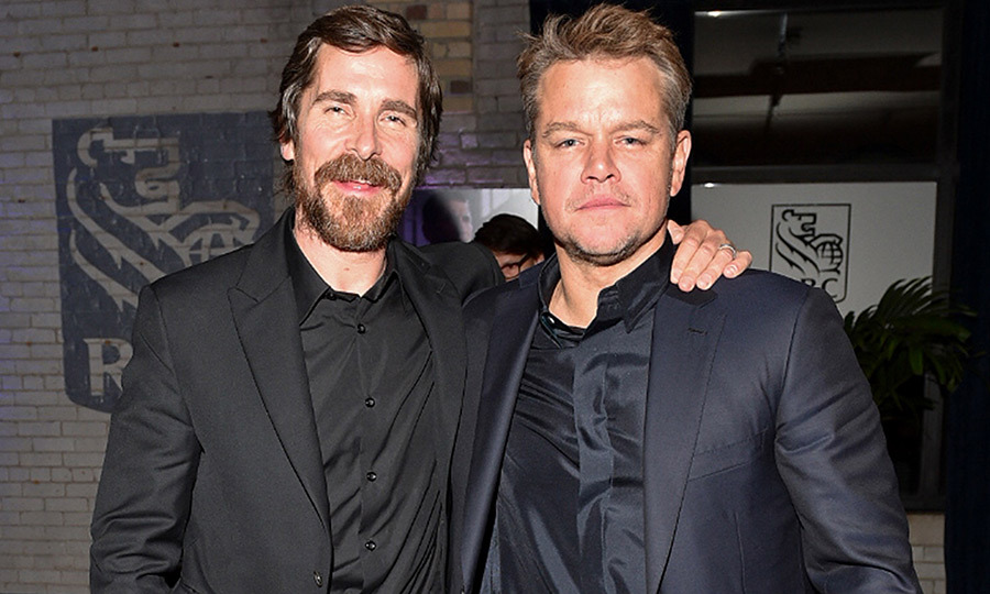 "<strong><a href=""/tags/0/christian-bale"">Christian Bale</a></strong> and <strong><a href=""/tags/0/matt-damon"">Matt Damon</a></strong> got some quality time in together at the <i>Ford v Ferrari</i> party on Sept. 9.