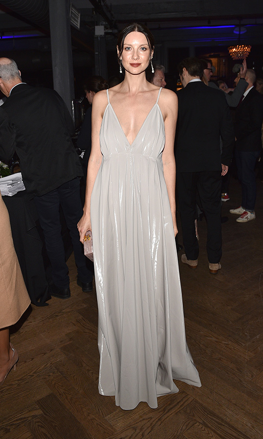 "<strong><a href=""/tags/0/caitriona-balfe"">Caitriona Balfe</a></strong> was also on hand for the shindig, sporting the gorgeous gown she wore to the film's screening.