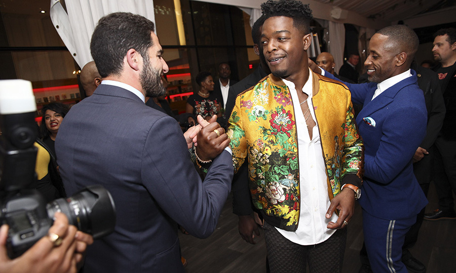 "<Strong><a href=""/tags/0/stephan-james"">Stephan James</a></strong>, the Canadian star nominated for a Golden Globe for his role in <i>Homecoming</i>, was also at the event. 