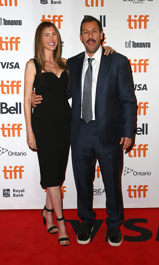 "<strong><a href=""/tags/0/adam-sandler"">Adam Sandler</a></strong> and his wife <strong>Jackie Sandler</strong> looked very happy on the <i>Uncut Gems</i> red carpet on Sept. 9!