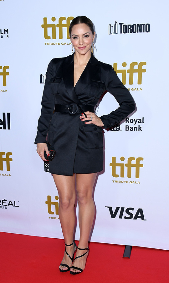 "<strong><a href=""/tags/0/katharine-mcphee"">Katharine McPhee</a></strong> looked her usual stylish self at the TIFF Tribute Awards gala on Sept. 9, at which her husband <strong><a href=""/tags/0/david-foster"">David Foster</a></strong> received the TIFF Special Tribute award for his work in music and film.