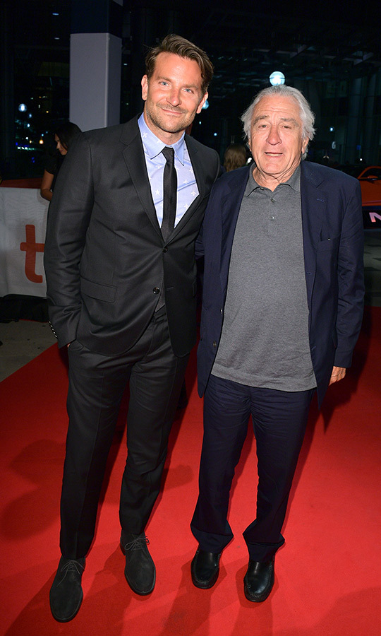 "Bradley got a great moment in with <strong><a href=""/tags/0/robert-de-niro"">Robert De Niro</a></strong> on the <i>Joker</i> red carpet!