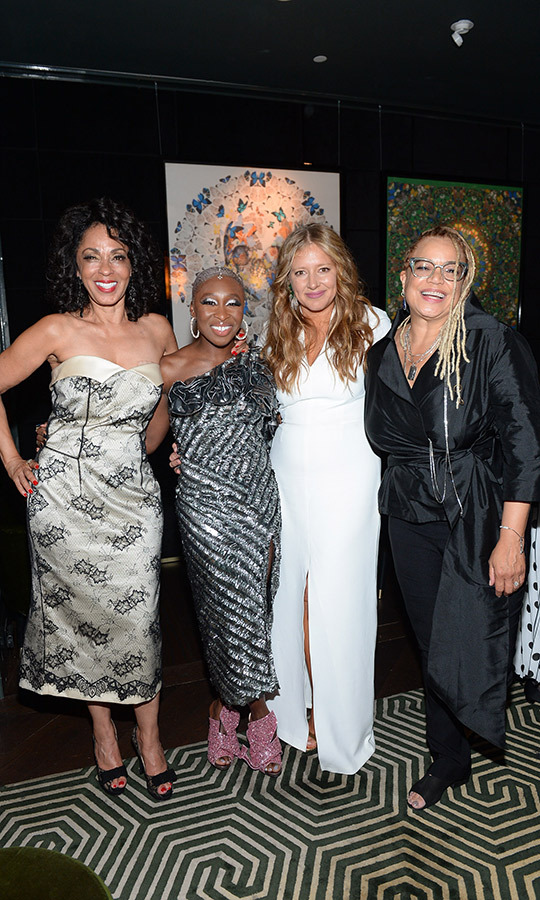 "<strong>Debra Martin Chase</strong>, <strong><a href=""/tags/0/cynthia-erivo"">Cynthia Erivo</a></strong>, <strong>Daniela Taplin Lundberg</strong> and <strong>Kasi Lemmons</strong> looked very happy at the <i>Harriet</i> cast party on Sept. 10. The film is considered a breakout role for Cynthia, who is a huge Broadway star and is making only her third movie appearance to date. She plays abolitionist Harriet Tubman in the film.