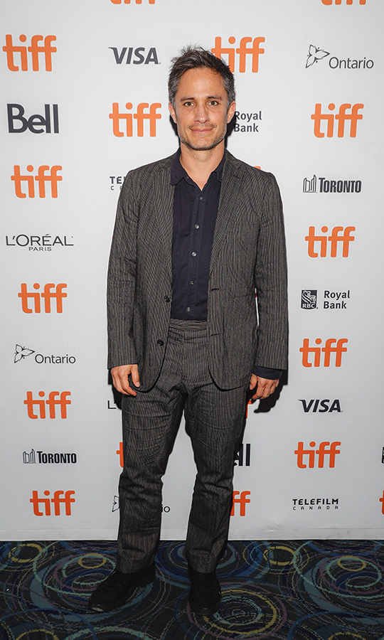 "<strong><a href=""/tags/0/gael-garcia-bernal"">Gael Garcia Bernal</a></strong> chose a grey textured suit and a dark blue shirt for his second screening at <Strong><a href=""/tags/0/tiff"">TIFF</a></strong> 2019 for <i>Chicuarotes</i>.