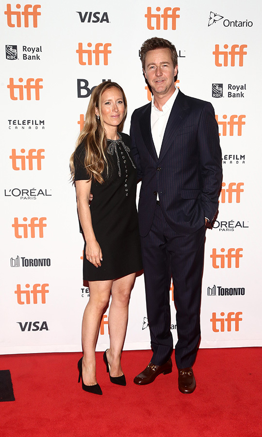 "<strong><a href=""/tags/0/edward-norton"">Edward Norton</a></strong> and his wife <strong>Shauna Robertson</strong> looked like a stylish and happy couple on the <i>Motherless Brooklyn</i> red carpet on Sept. 10.