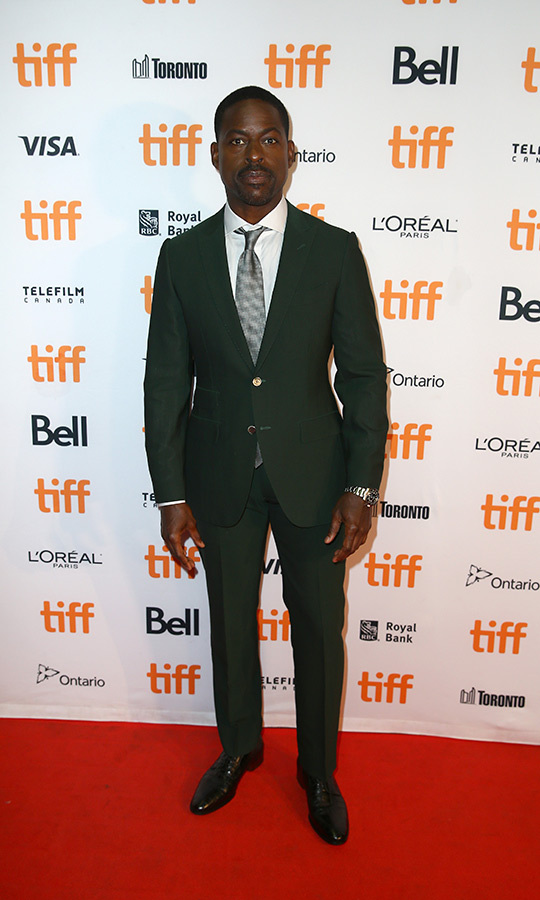 "<strong><a href=""/tags/0/sterling-k-brown"">Sterling K. Brown</a></strong> looked very classy on the red carpet for <i>Waves</i> on Sept. 10.