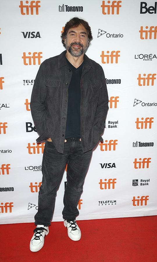 "It was humid in Toronto on Sept. 11, but <strong><a href=""/tags/0/javaier-bardem"">Javier Bardem</strong></a> was definitely chilling out in fall clothes on the <i>Sanctuary</i> red carpet.
