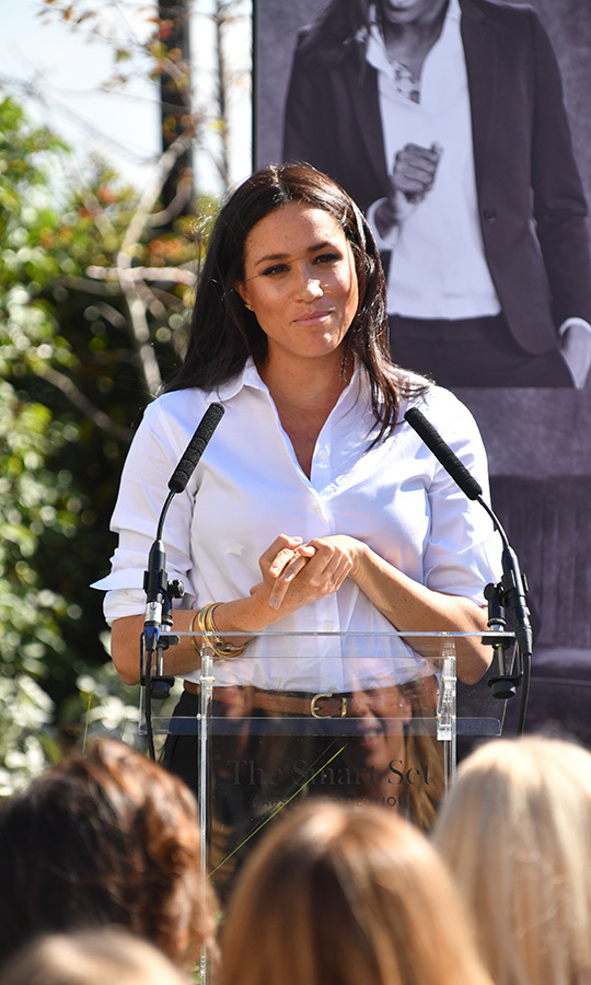 The duchess also made a speech at the event, in which she talked about the importance of women helping each other.