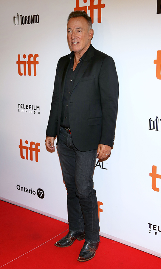 "<strong><a href=""/tags/0/bruce-springsteen"">Bruce Springsteen</a></strong> looked classy on the red carpet for the new <i>Western Stars</i> documentary about his latest album that screened at TIFF on Sept. 12.