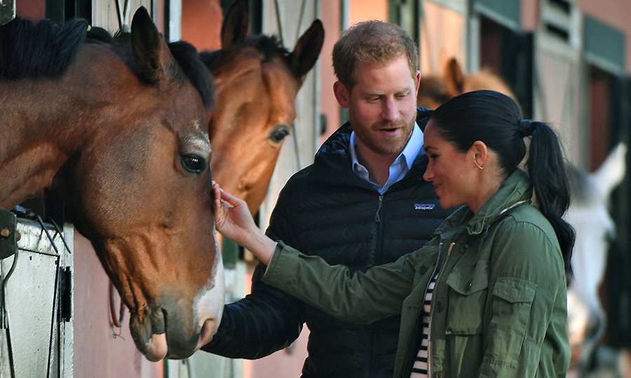 On Feb. 25, the Duke and Duchess of Sussex enjoyed some time with horses in the morning.