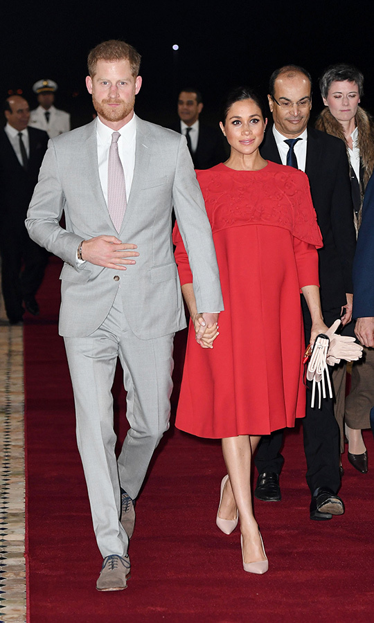 "The Sussexes always arrive in style, and we can't wait to see how they'll do the same when they arrive in Cape Town, South Africa next week! Perhaps <a href=""/tags/0/meghan-markle""><strong>Meghan</a></strong> or <strong><a href=""/tags/0/prince-harry"">Harry</a></strong> will be carrying baby <strong><a href=""/tags/0/archie-harrison"">Archie</a></strong>? 