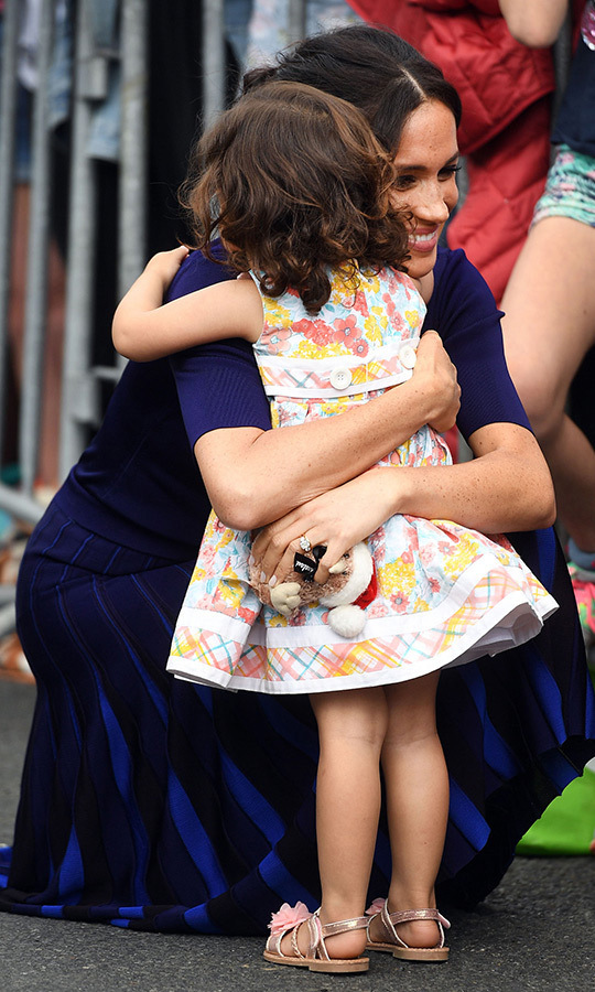 "This youngster was very keen to give <strong><a href=""/tags/0/meghan-markle"">Meghan</a></strong> a big hug earlier in the day!