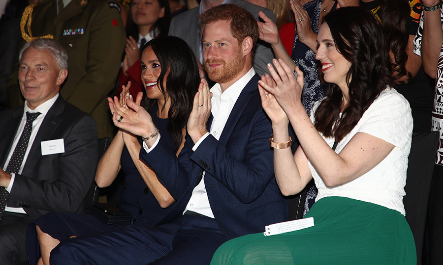 "On Oct. 30, 2018, the couple attended a reception with New Zealand Prime Minister <strong><a href=""/tags/0/jacinda-ardern"">Jacinda Ardern</a></strong>. <Strong><a href=""/tags/0/meghan-markle"">Meghan</a></strong> was so impressed with Jacinda and her response to the New Zealand terror attacks earlier this year that she named her as one of her <a href=""https://ca.hellomagazine.com/celebrities/02019072952412/women-on-cover-meghan-markle-british-vogue""><strong>""Forces for Change""</a></strong> in the issue of <i>British Vogue</i> she guest-edited earlier this year. 