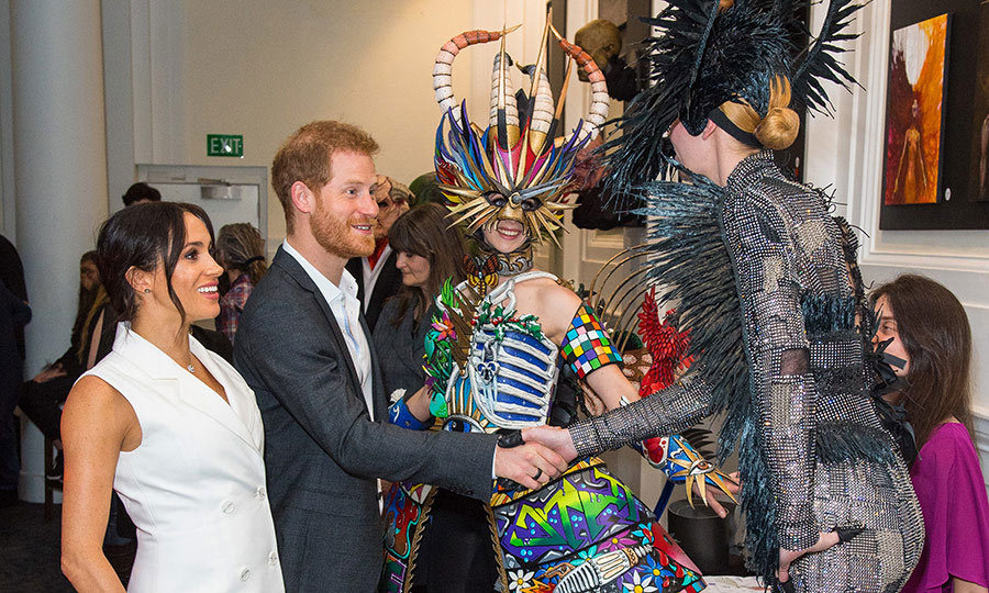 "On Oct. 29, 2018, <strong><A href=""/tags/0/meghan-markle"">Meghan</a></strong> and <strong><a href=""/tags/0/prince-harry"">Harry</a></strong> had a hilarious moment when they visited Courtney Creative in Wellington and met some leading costume designers - and those wearing those costumes - at an event designed to show off the best New Zealand has to offer in art and film!