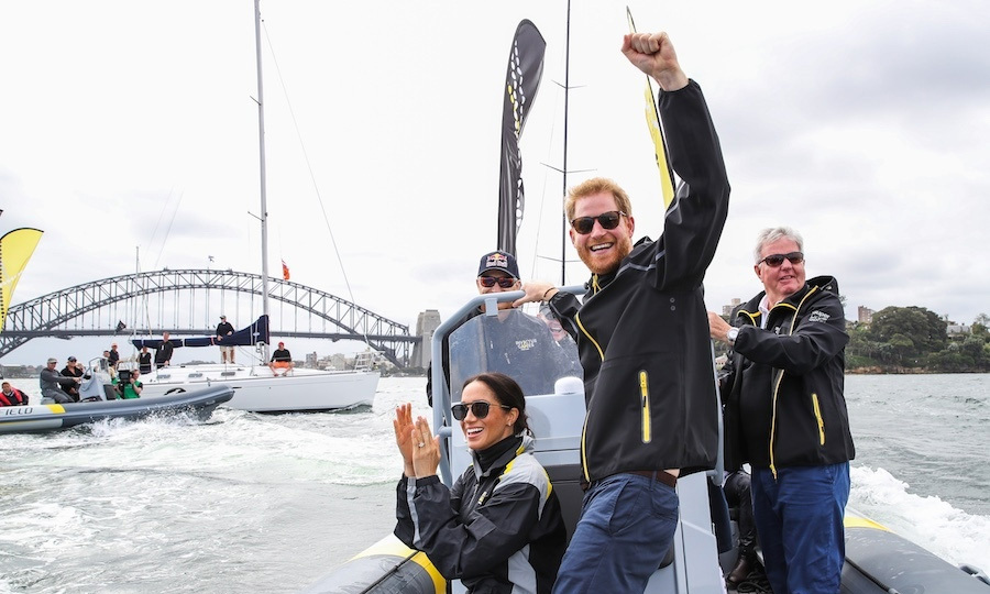 "In Sydney on Oct. 21, the couple cheered on sailing teams in an <strong><a href=""/tags/0/invictus-games"">Invictus Games</a></strong> event in Sydney's Olympic Harbour.