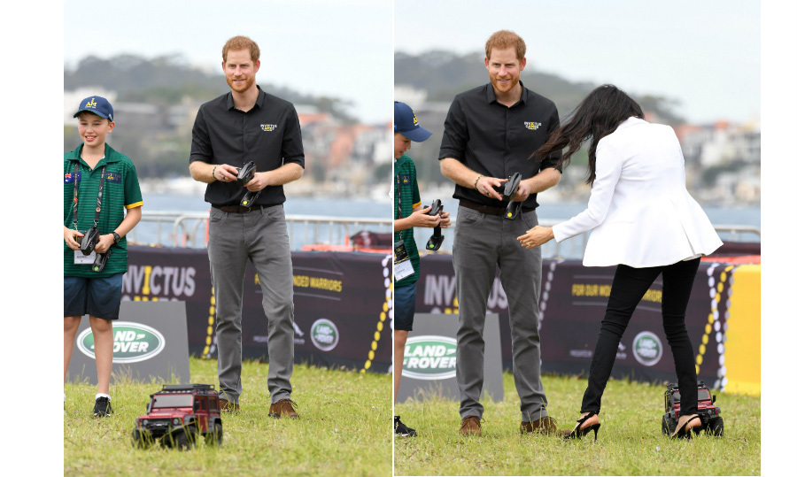 "<strong><a href=""/tags/0/prince-harry"">Prince Harry</a></strong> got the opportunity to nurture his inner child when he raced remote controlled cars with the children of <strong><a href=""/tags/0/invictus-games"">Invictus Games</a></strong> participants just before the opening ceremony on Oct. 20. <strong><a href=""/tags/0/meghan-markle"">Meghan</a></strong> got a bit clipped by a car in the process!
