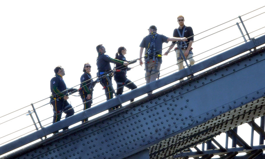 "On Oct. 19, <strong><a href=""/tags/0/prince-harry"">Prince Harry</a></strong> climbed Sydney's Harbour Bridge with a crew and raised the <strong><a href=""/tags/0/invictus-games"">Invictus Games</a></strong> flag!