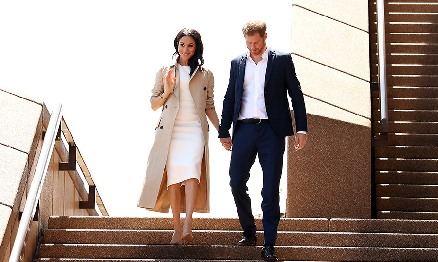 "On the first day of their very first royal tour as a married couple, <Strong><a href=""/tags/0/meghan-markle"">Duchess Meghan</a></strong> and <strong><a href=""/tags/0/prince-harry"">Prince Harry</a></strong> arrived to a massive welcome at Sydney's Opera House looking more in love than ever. The couple had just announced their pregnancy, and looked so thrilled!