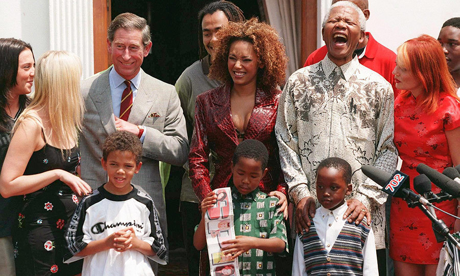"Just like Diana, <strong><a href=""/tags/0/prince-charles"">Charles</a></strong> had a very strong relationship with <strong><a href=""/tags/0/nelson-mandela"">Nelson Mandela</a></strong>. The two are seen here with <strong><a href=""/tags/0/melanie-b"">Melanie B</a></strong> of the <strong><a href=""/tags/0/spice-girls"">Spice Girls</a></strong> at Nelson's residence in Pretoria, South Africa in 1997.
