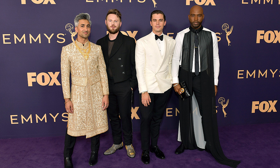 "How incredible did four out of five <i><strong><a href=""/tags/0/queer-eye"">Queer Eye</a></i></strong> cast members look at the Emmys? <strong><a href=""/tags/0/tan-france"">Tan France</a></strong>, <a href=""/tags/0/bobby-berk""><strong>Bobby Berk</a></strong>, <strong><a href=""/tags/0/anthony-porowski"">Anthony Porowski</a></strong> and <strong><a href=""/tags/0/karamo-brown"">Karamo Brown</a></strong> showed off their stunning and unique senses of style on the red carpet.