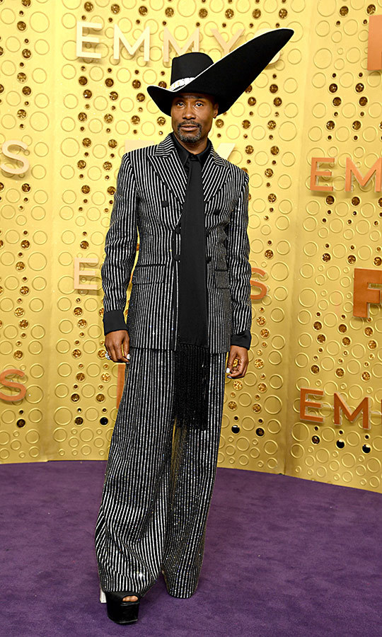 "This. Hat. <strong><a href=""/tags/0/billy-porter"">Billy Porter</a></strong>, who is known for his jaw-dropping red carpet looks, chose this amazing outfit for the Emmys.