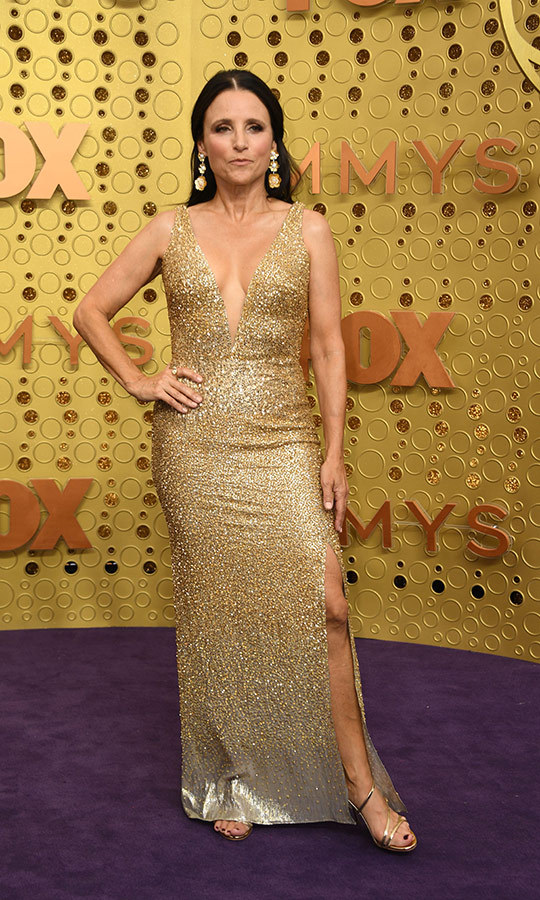 "<strong><a href=""/tags/0/julia-louis-dreyfus"">Julia Louis-Dreyfus</a></strong> looked stunning in gold. 