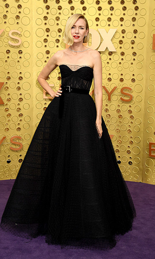 "<strong><a href=""/tags/0/naomi-watts"">Naomi Watts</a></strong> looked exquisite in a black gown with a belt. 